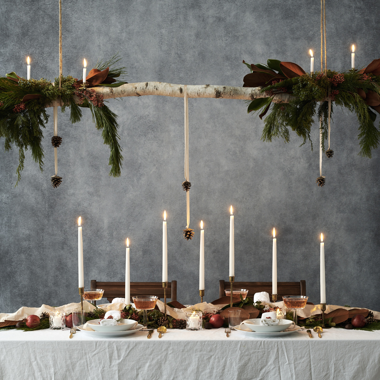 Christmas dinner country living magazine styled by Jessica Stewart Prop Stylist Specializing in food styling Imagery and set design, and conceptual art