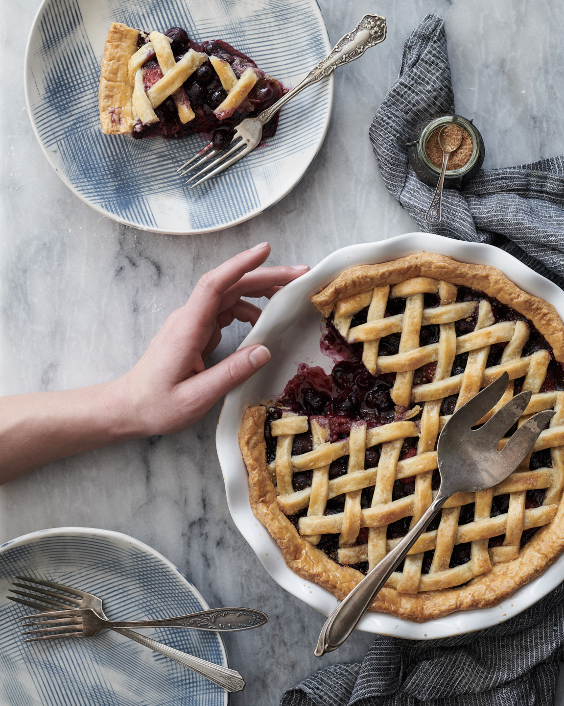 country living Berry Pie styled by Jessica Stewart Prop Stylist Specializing in food styling Imagery and set design