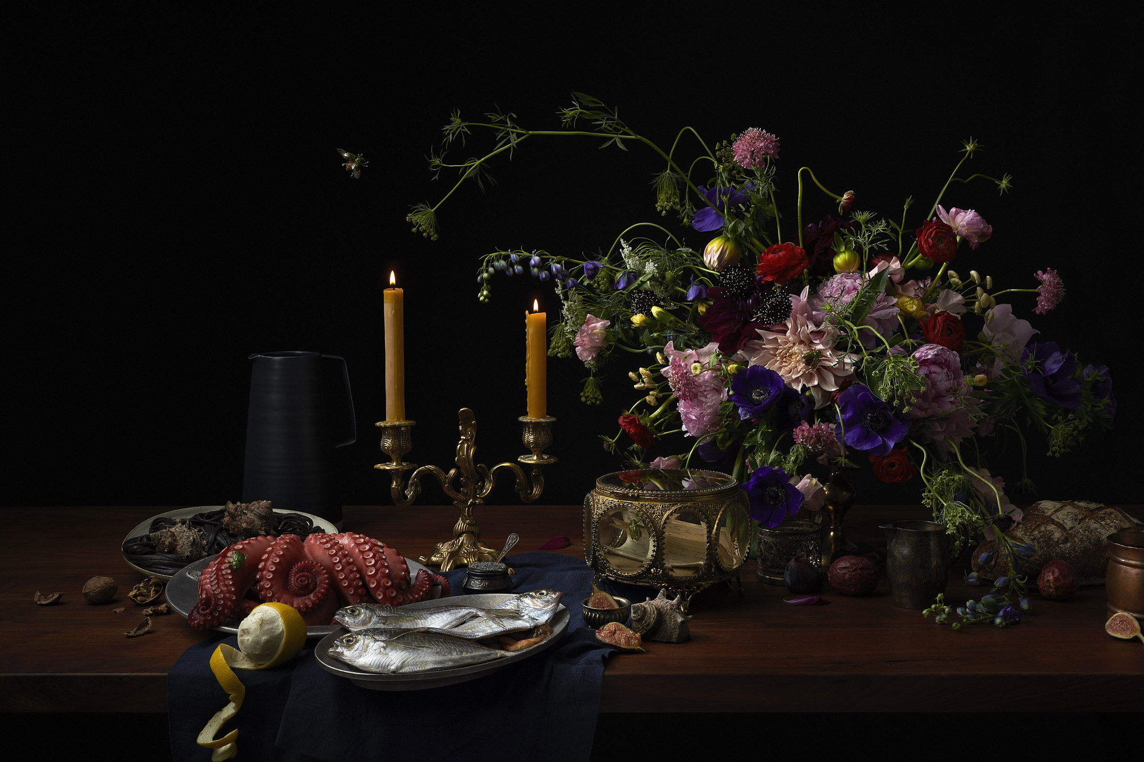 Renaissance still life painting photography by Jessica Stewart Prop Stylist Specializing in still imagery and Styling